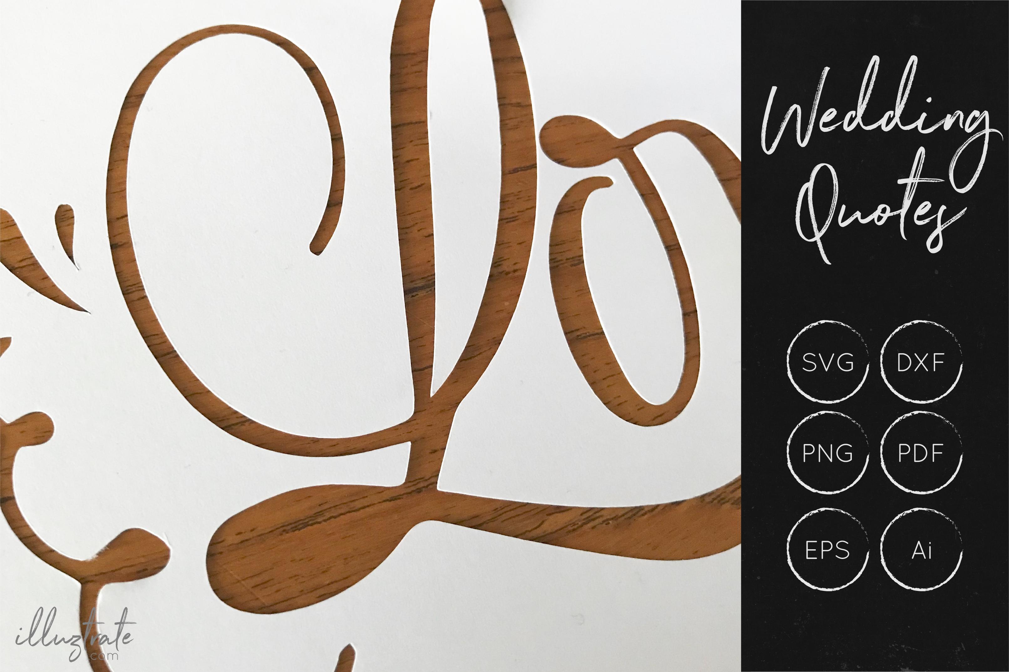 Wedding SVG Cut Files Bundle - Wedding Quotes - Wedding SVG example image 7
