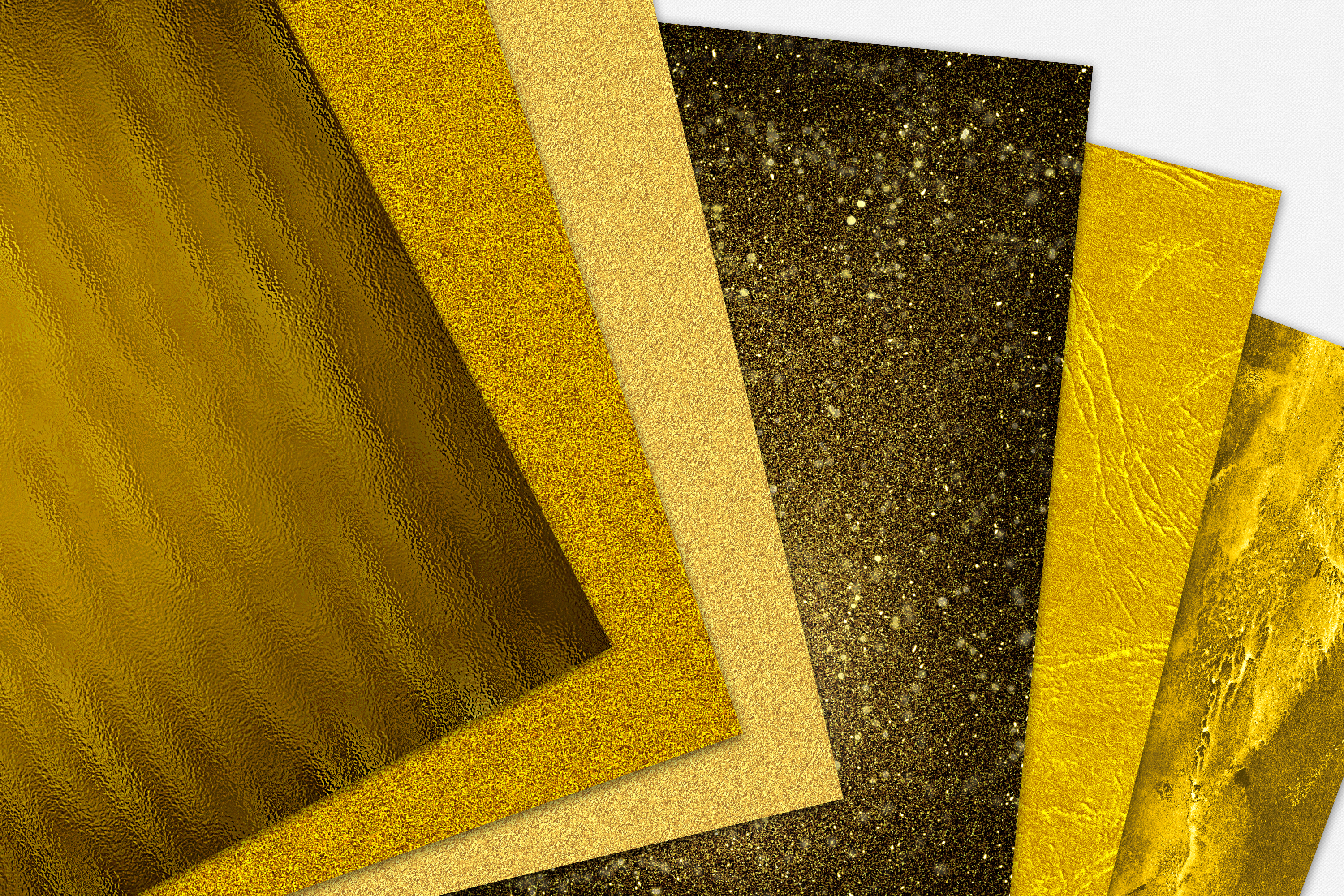Gold Foil and Glitter Textures - Metallic Digital Papers example image 9