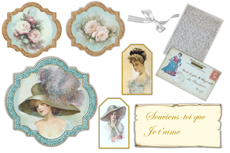 Vintage Victorian Journaling or scrapbooking & FREE Ephemera example image 8