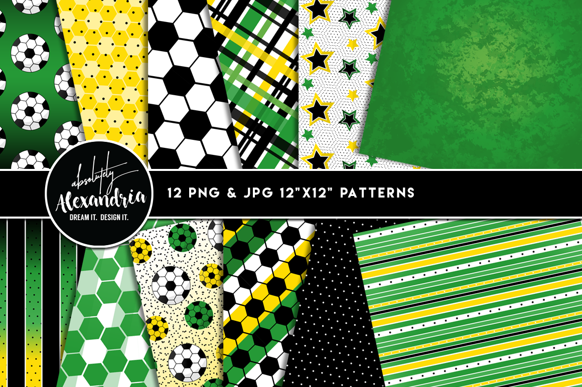 Soccer Scorer Clipart Graphics & Digital Paper Patterns Bundle example image 2