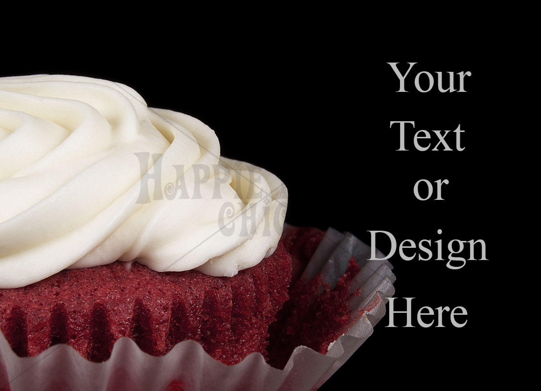 Red Velvet Cupcake on a Black Background example image 1