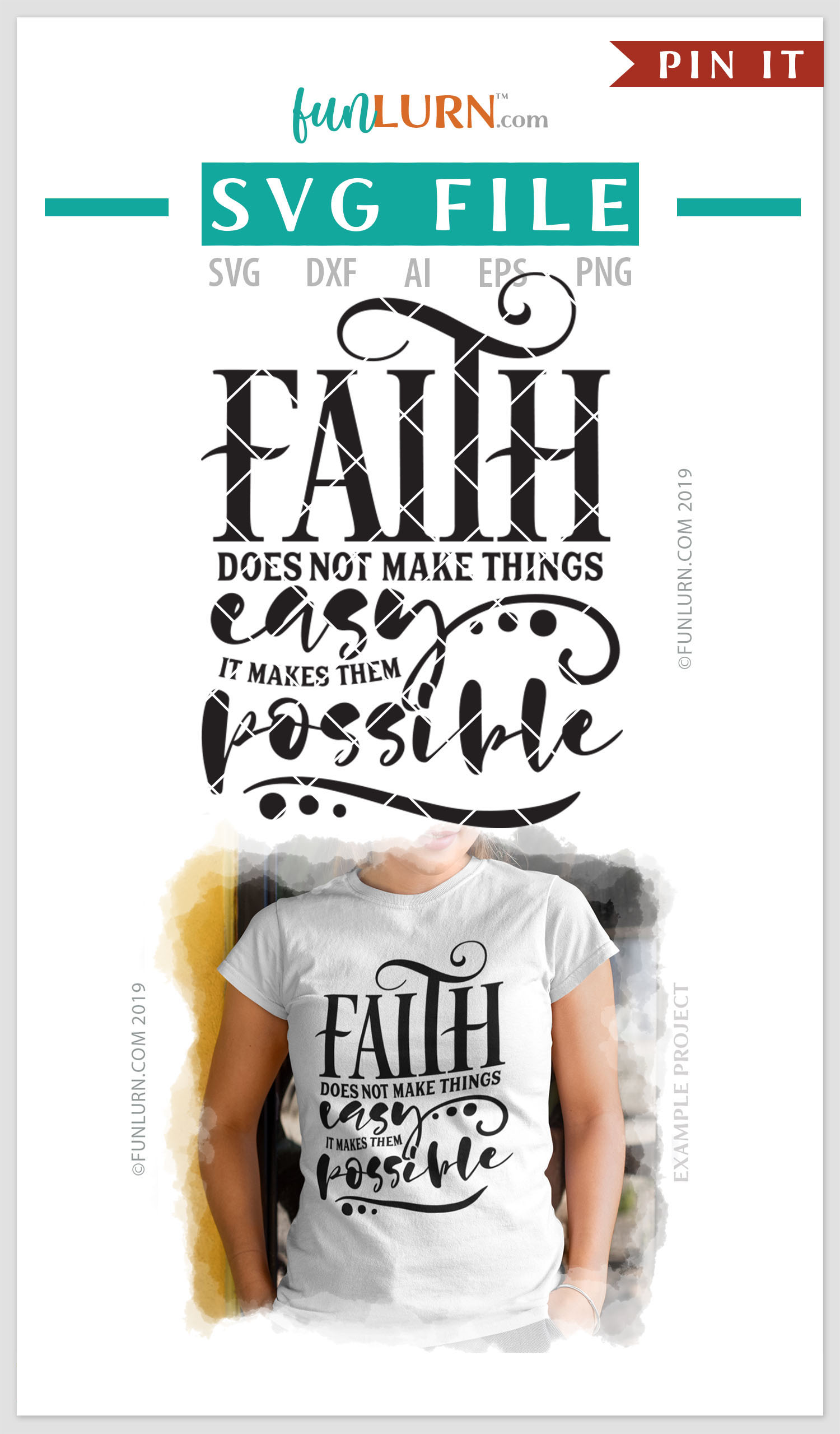 Faith Does Not Make Things Easy SVG Cut File example image 4