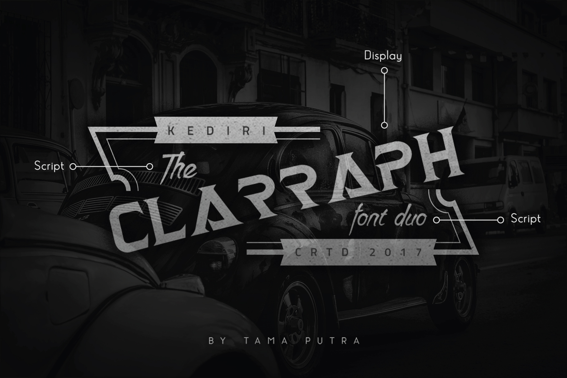 Clarraph Display and Handwritten Font Duo example image 1