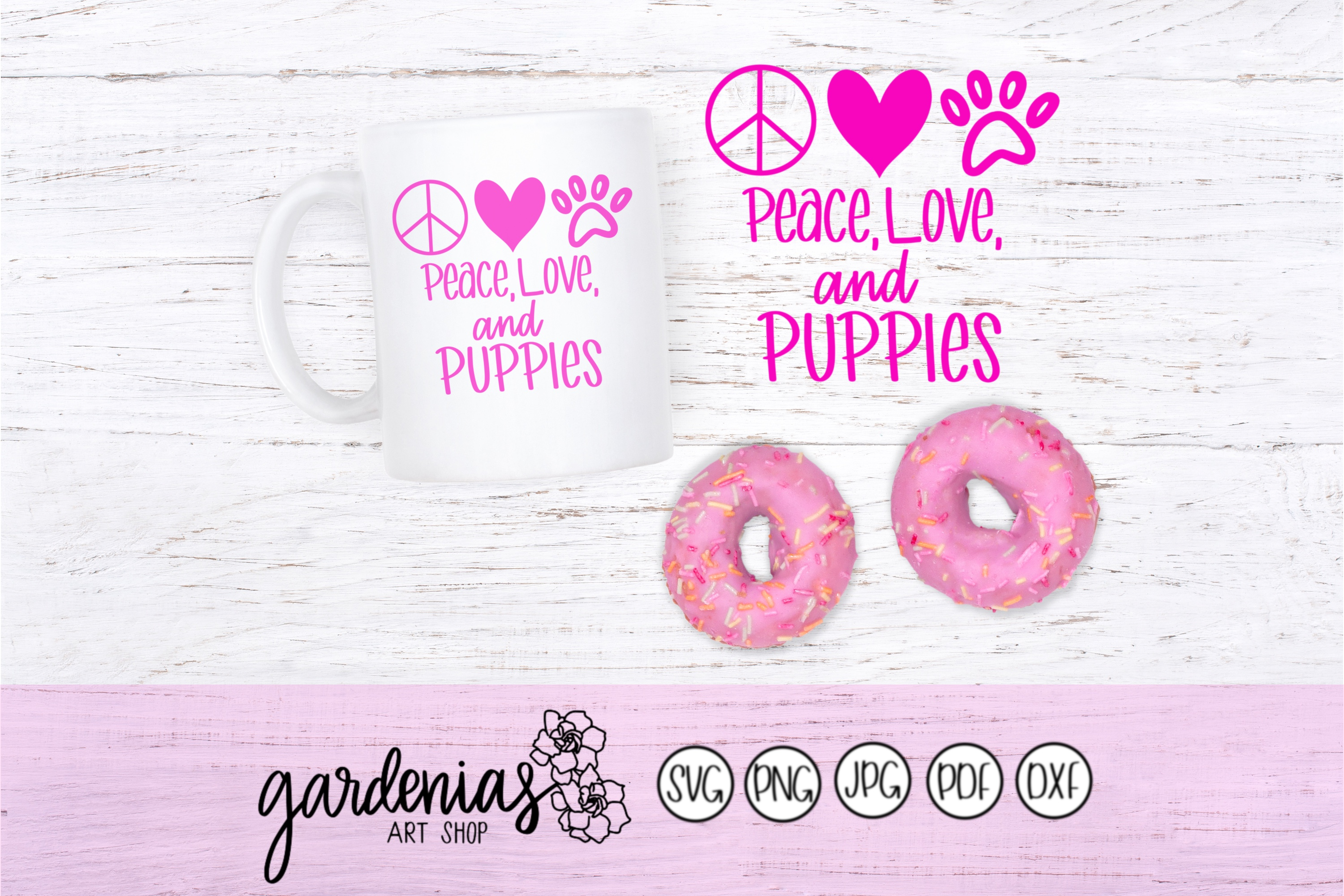 Peace Love and Puppies example image 1