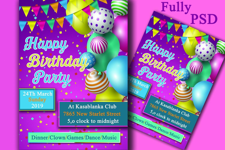 Birthday Party Invitation Card example image 1