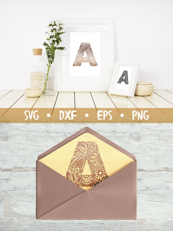 Floral Alphabet SVG CUT FILE example image 4