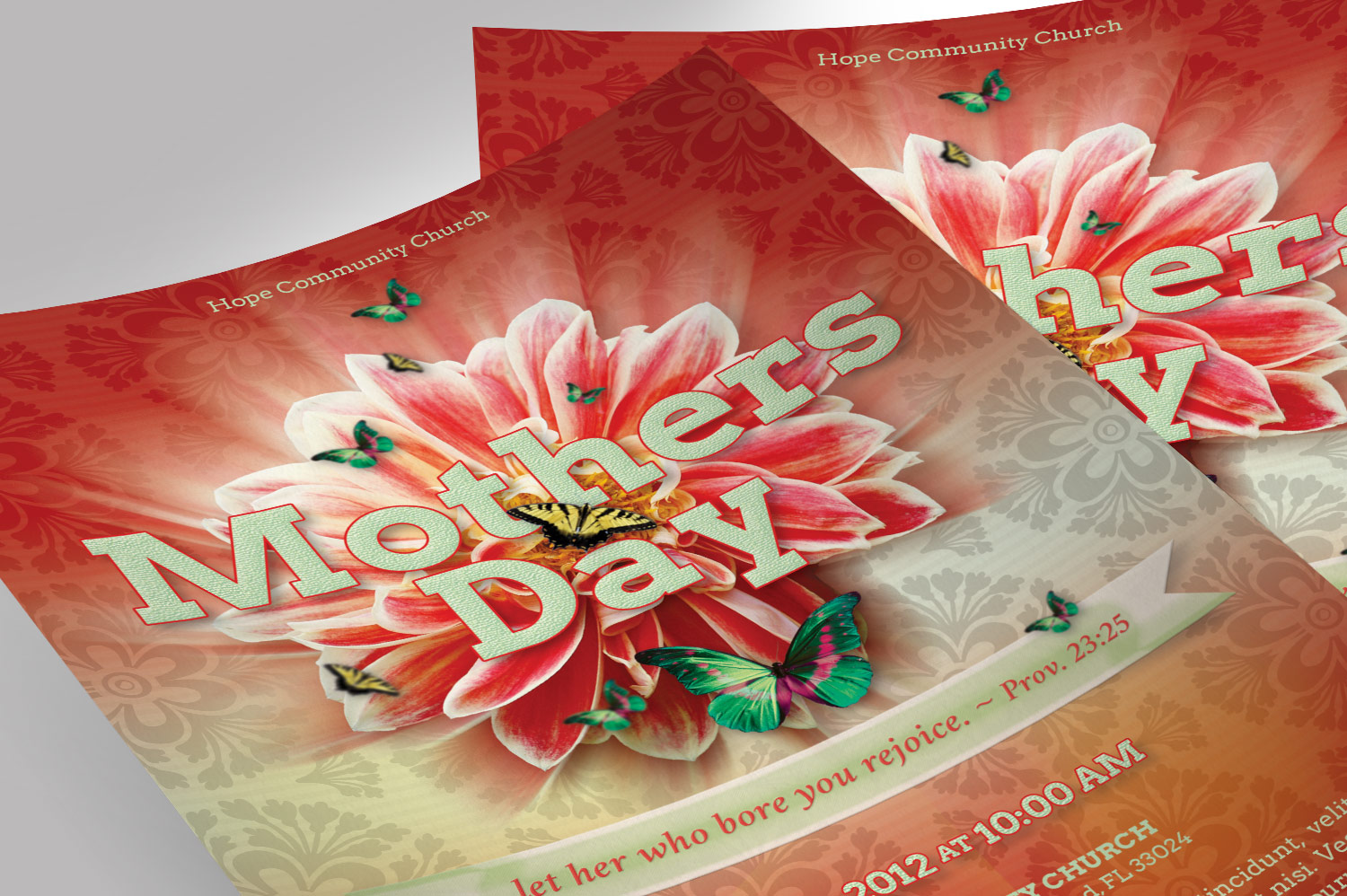 Mothers Day Flyer Photoshop Template example image 8