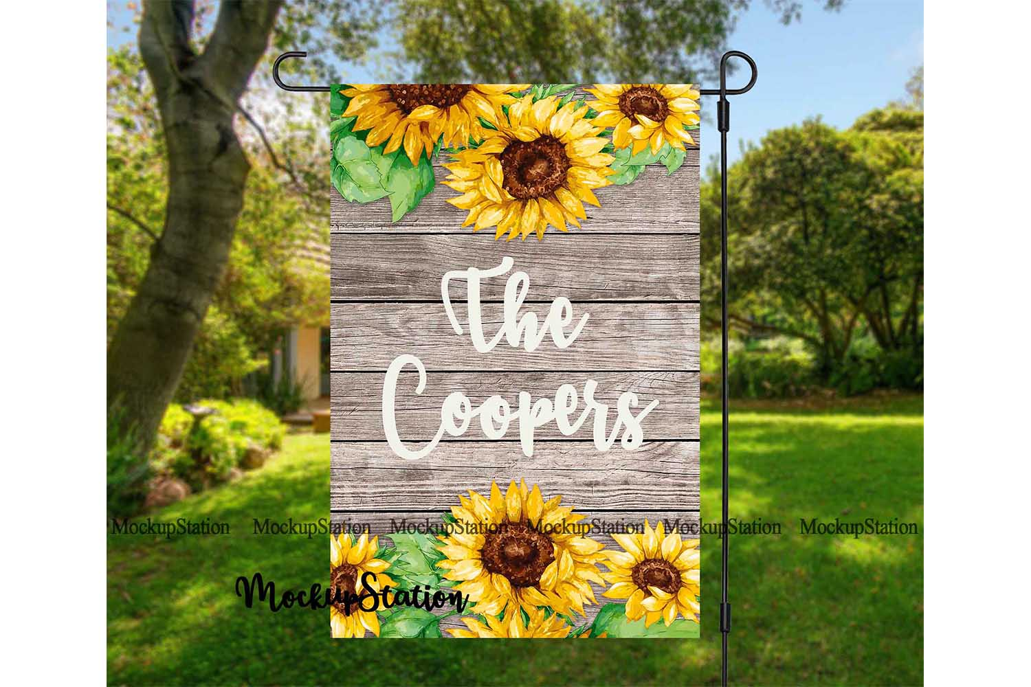 Garden Flag Mockup PSD File, Add Your Own Image/Background example image 3