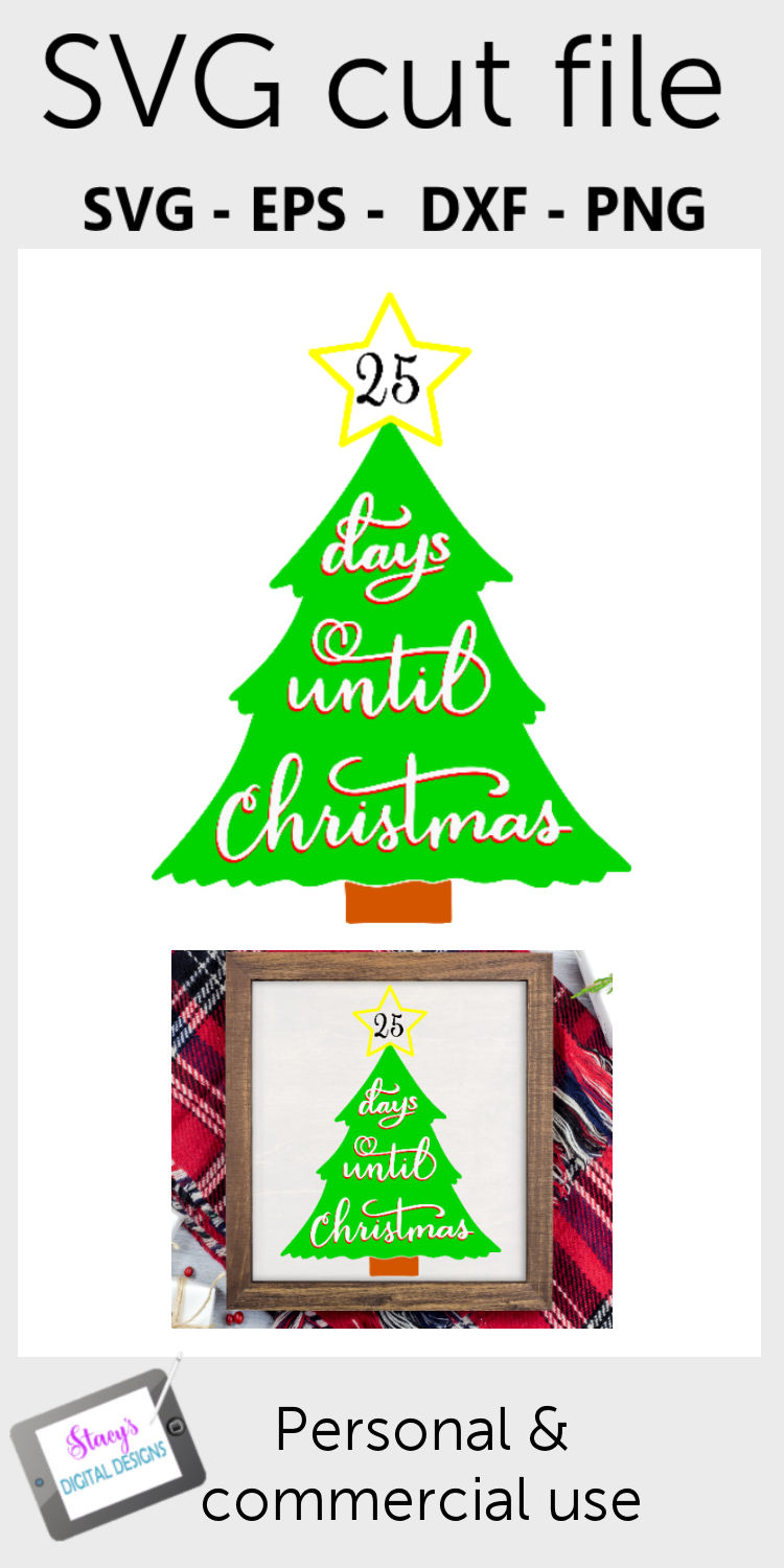 Days until Christmas SVG - Christmas Countdown - Advent example image 2