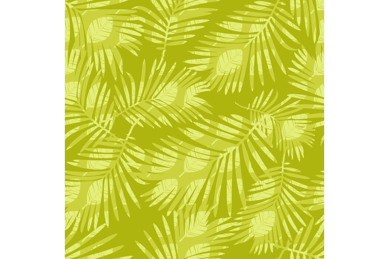 Tropical palm leaves. Set of 10 seamless patterns. example image 3