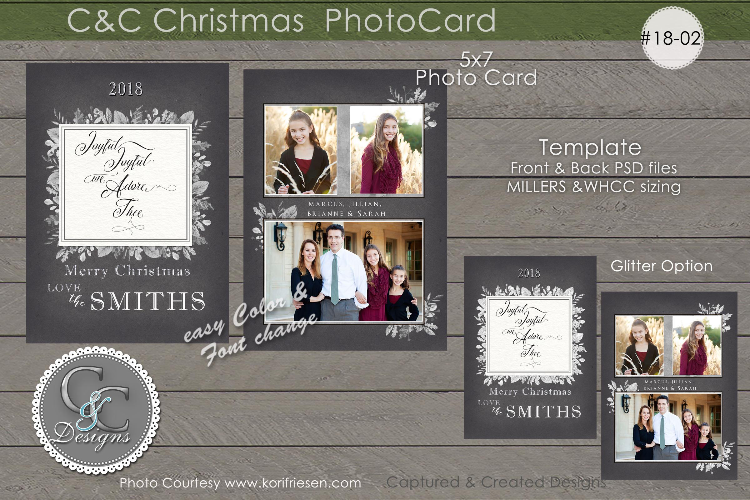 C&C Christmas Photo Card 18-02 example image 1