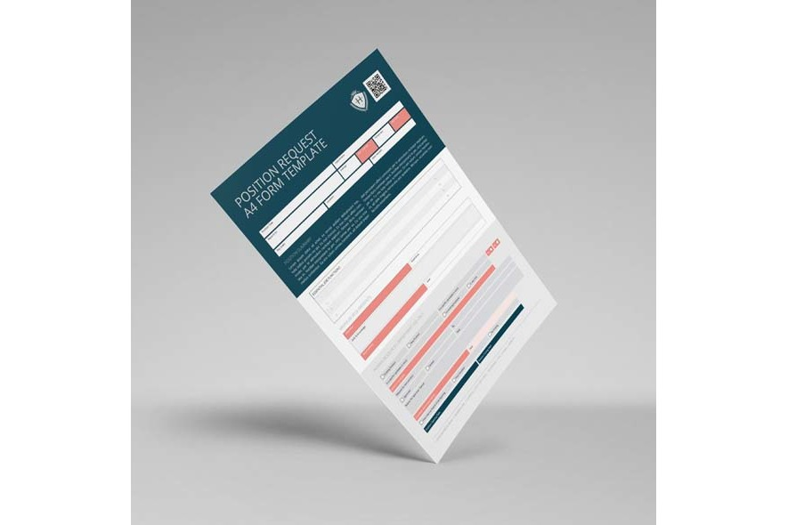 Position Request A4 Form Template example image 6