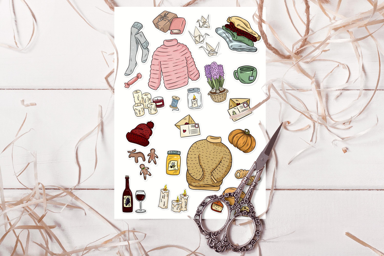 Cozy Sweaters Sticker Set example image 4