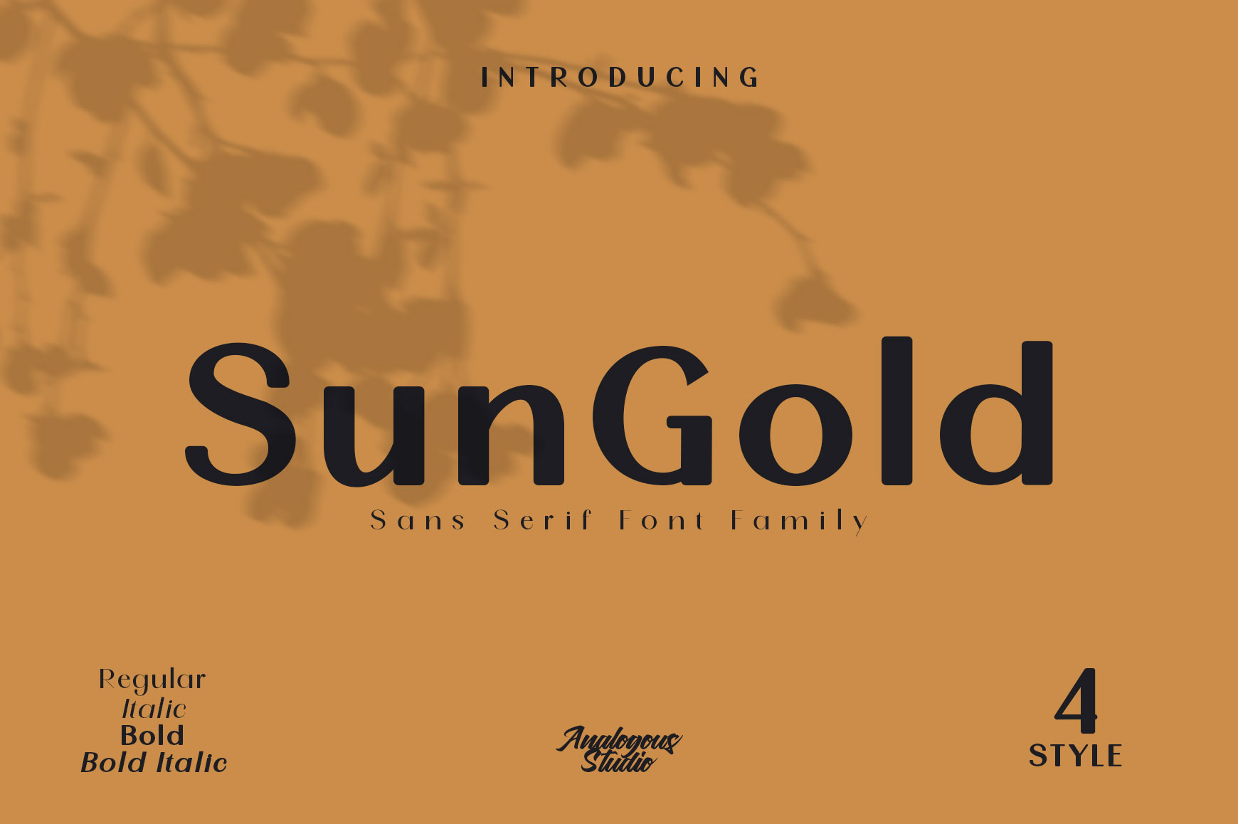 SunGold - Font Family example image 11