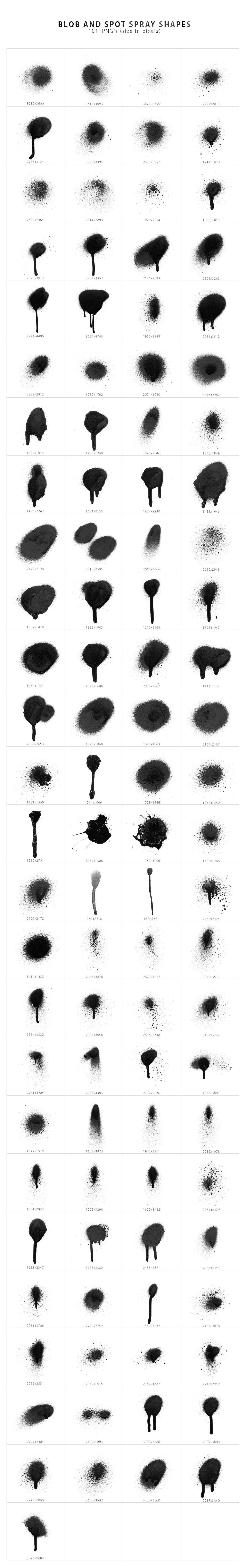 Spray Shapes & Textures example image 8