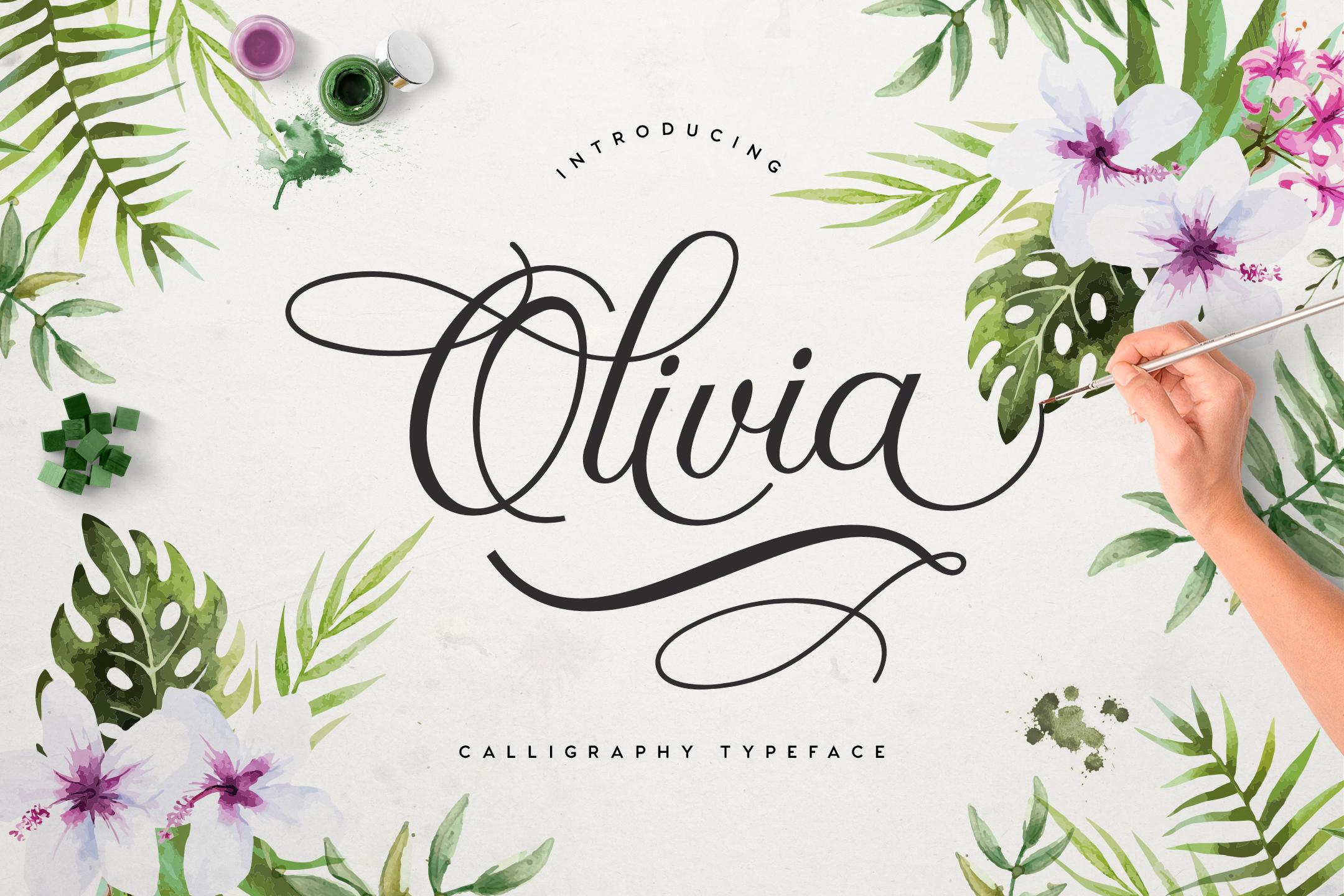 Olivia Script Free example 1