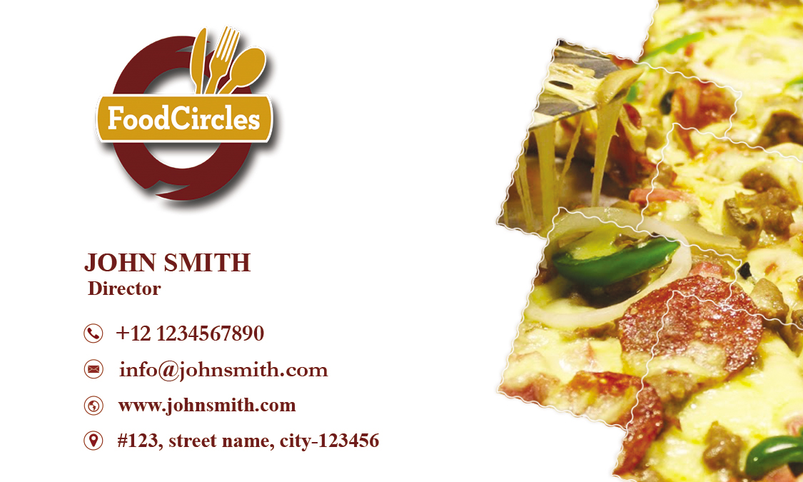 Attractive Restaurant Business Card example image 2