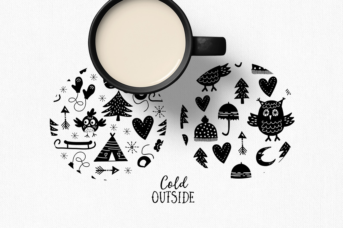 Cold Outside Winter Vectors example image 2
