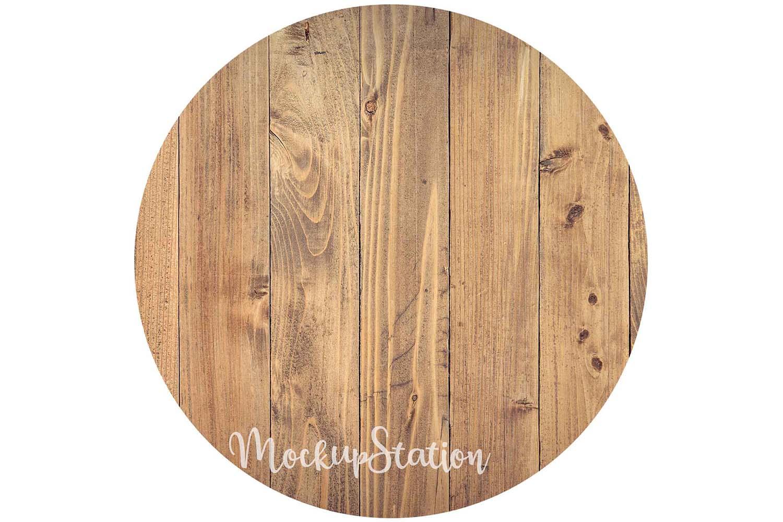 Sublimation Wood Background PNG Bundle, Round Frame Clip Art example image 3