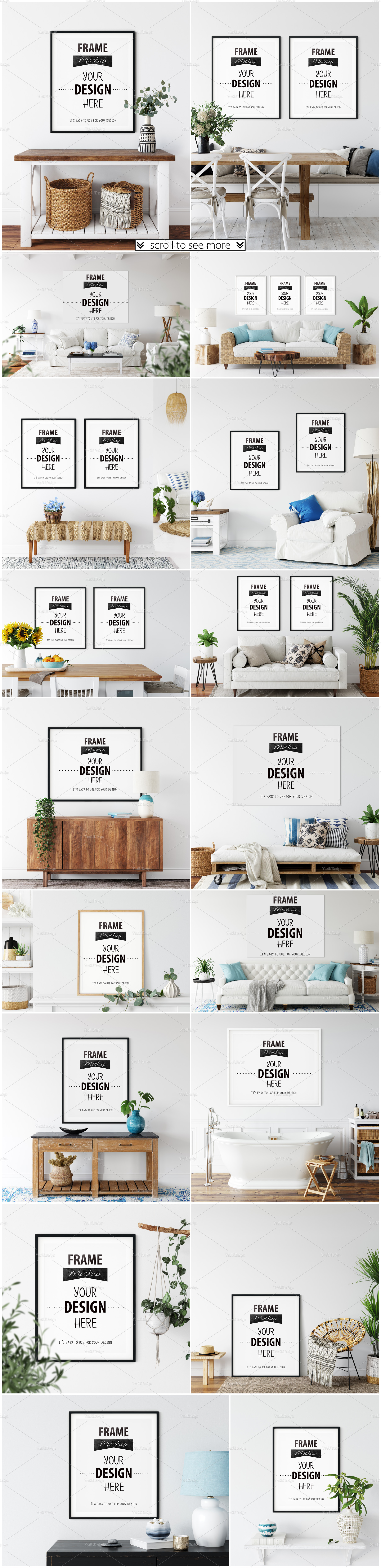 Frames & Walls Coastal Mockups Bundle example image 3