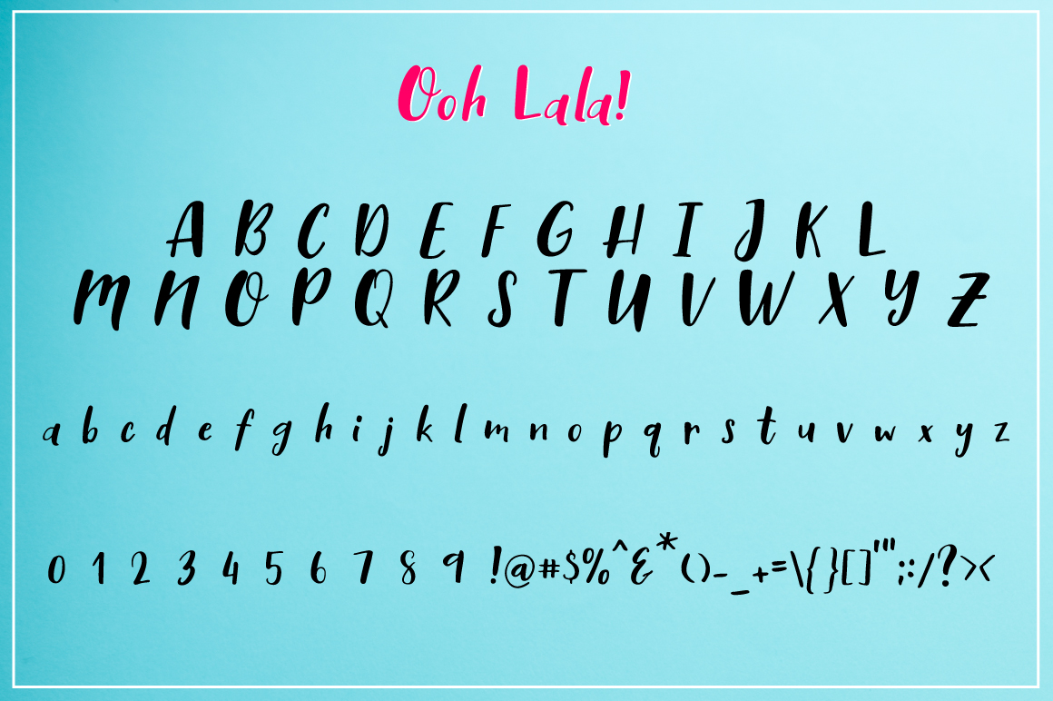 Ooh Lala | Hand Lettering font example image 6
