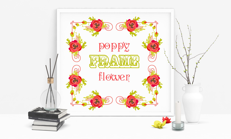 Poppy Flowers Frames Set # 1