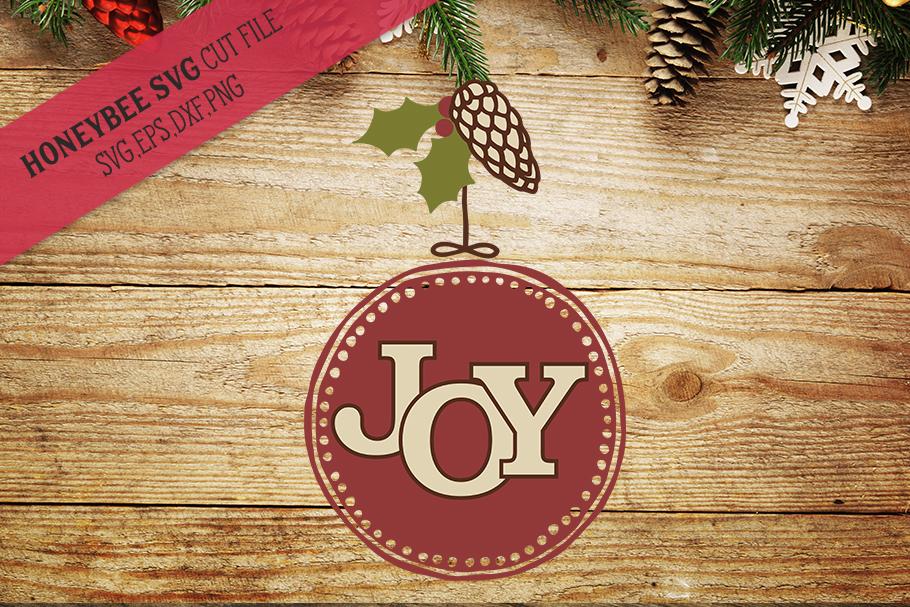 Joy Round Ornament svg example image 1