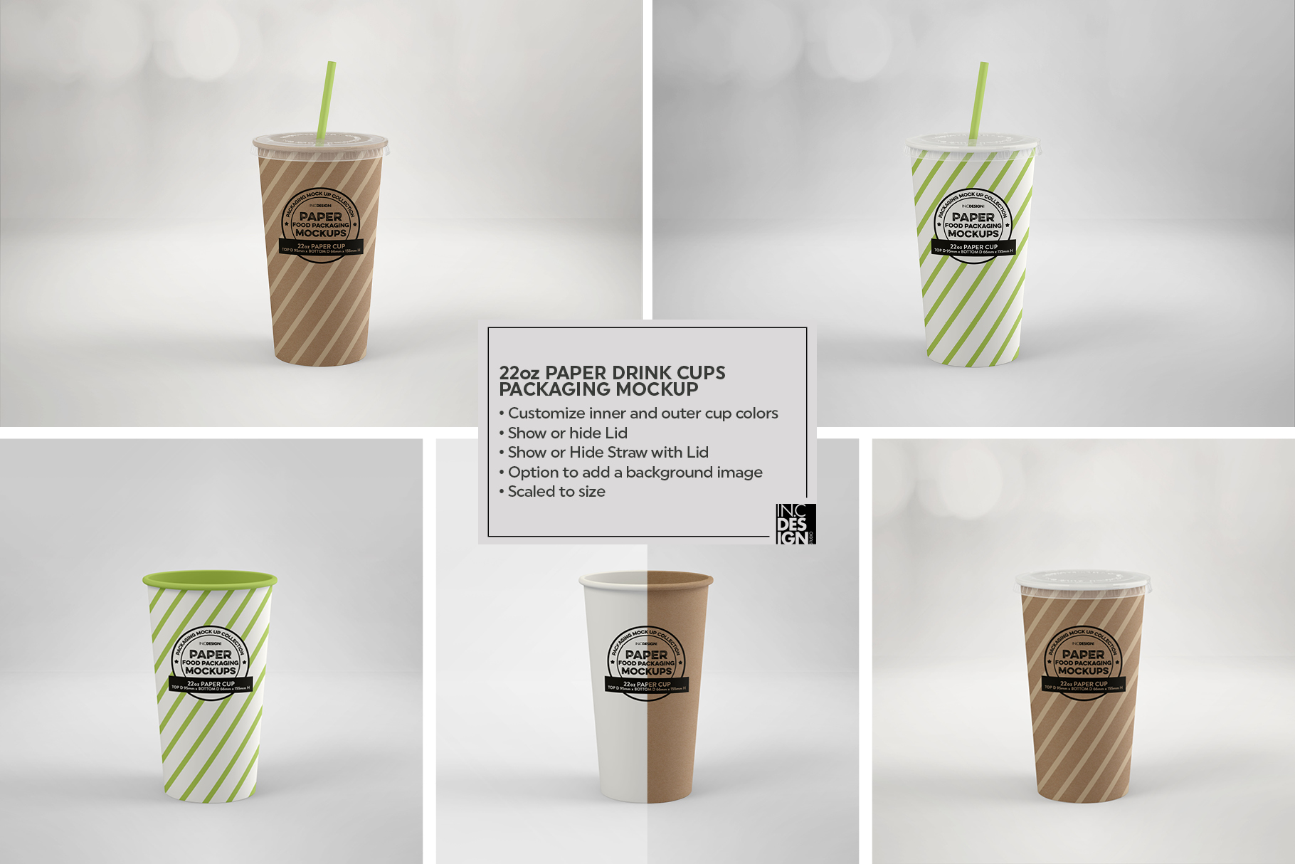 Paper Drink Cups Packaging Mockup example image 14
