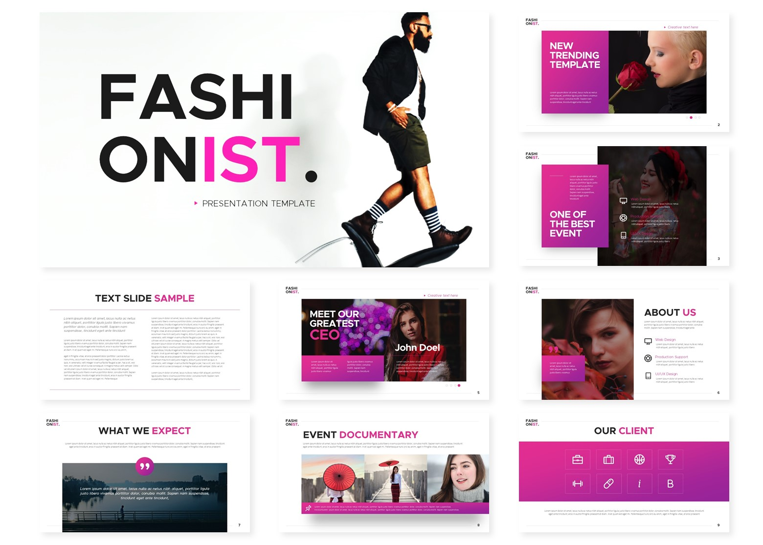 Fashionist   Powerpoint, Keynote, GoogleSlides Template example image 4