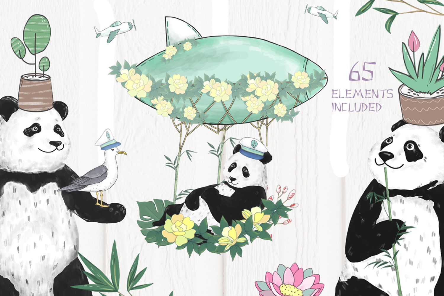 Pandas. Summer Adventure example image 5