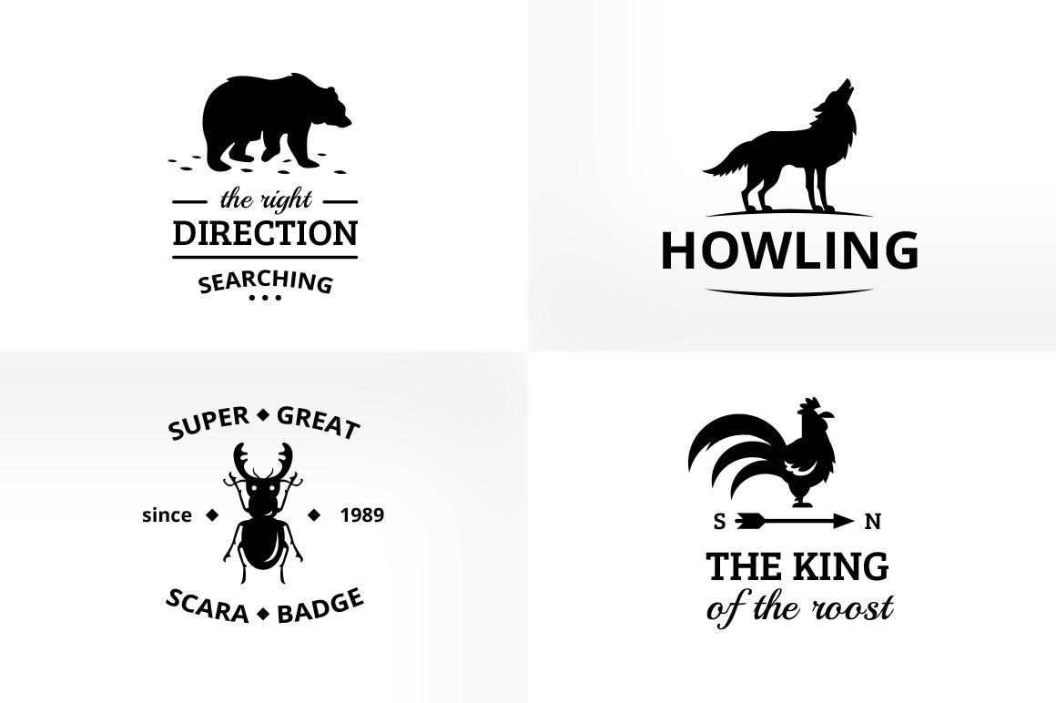 Vintage & Creative Animal Logo Badge example image 4