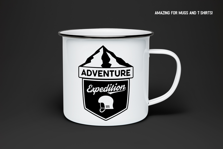 Vintage Adventure Logo / Retro Camp Hipster Badge SVG example image 3