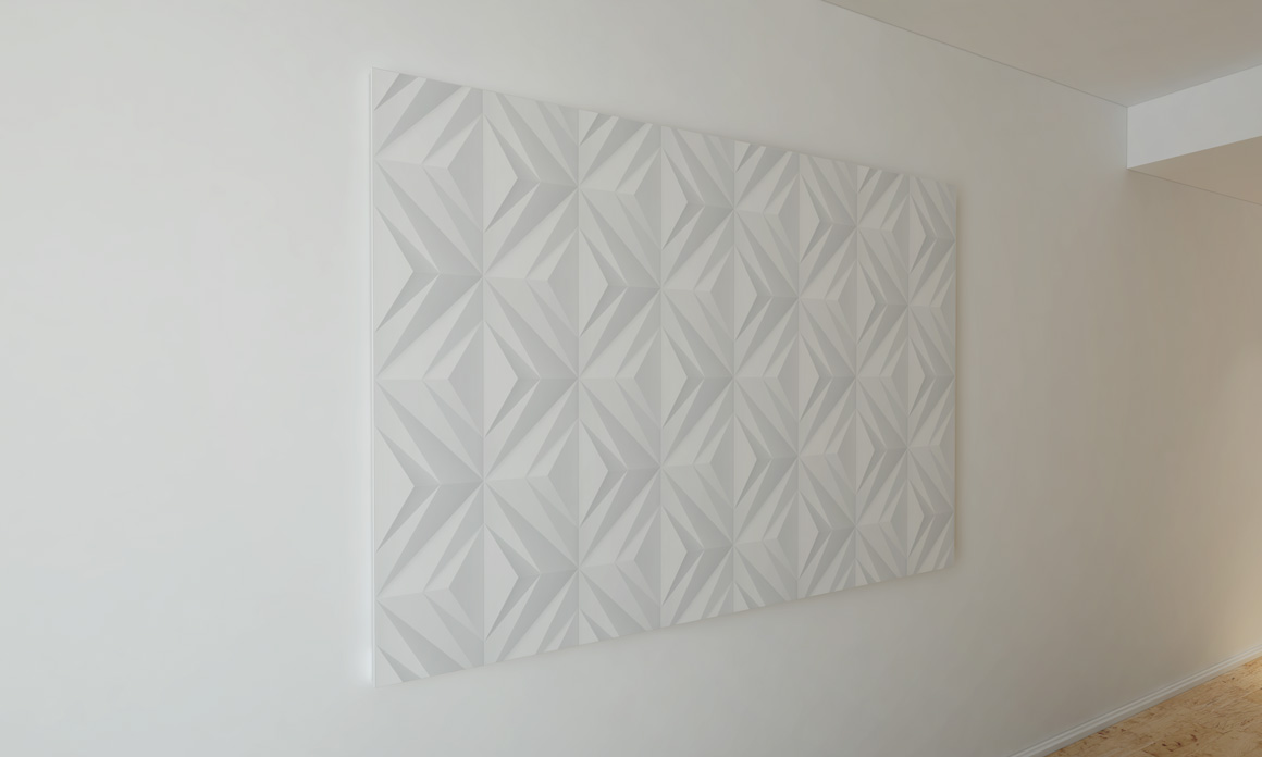 White geometric 3d seamless textures example image 4