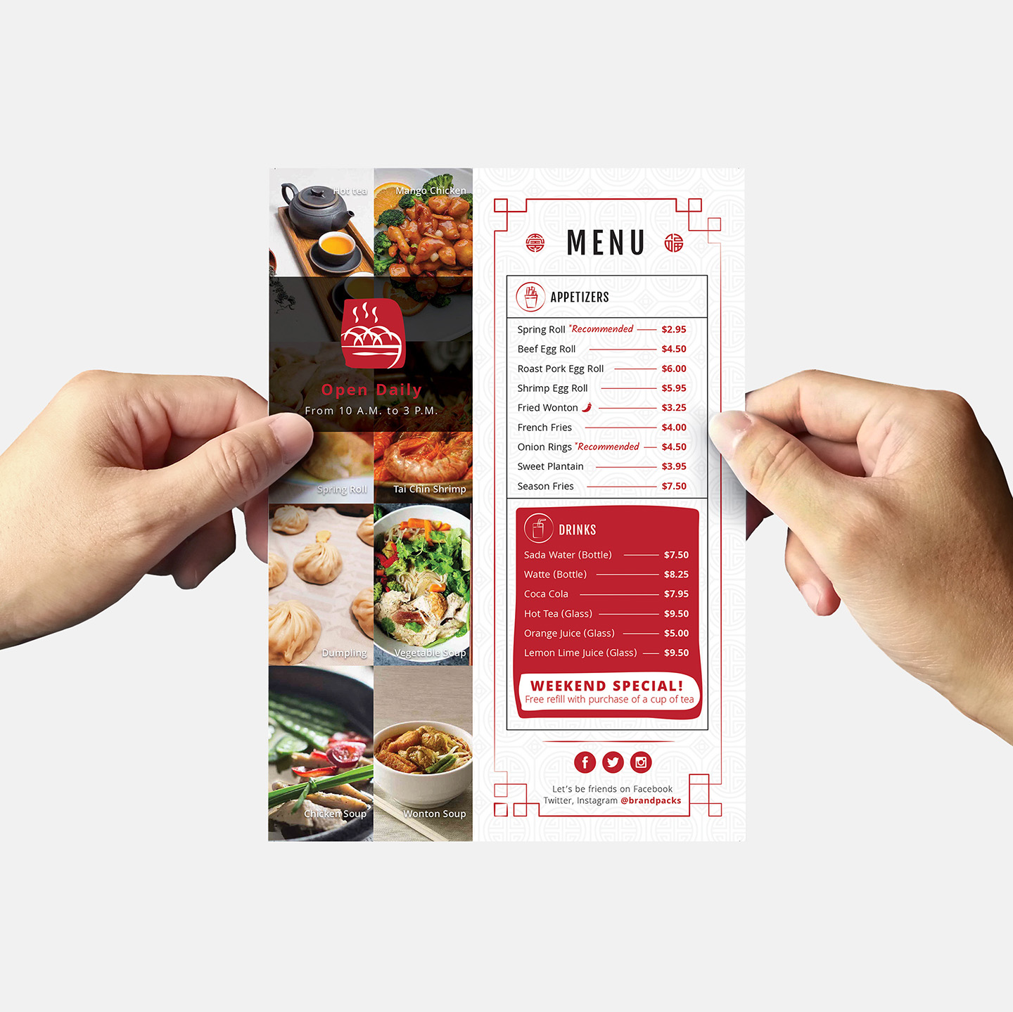 Chinese Menu & Flyer Template example image 9