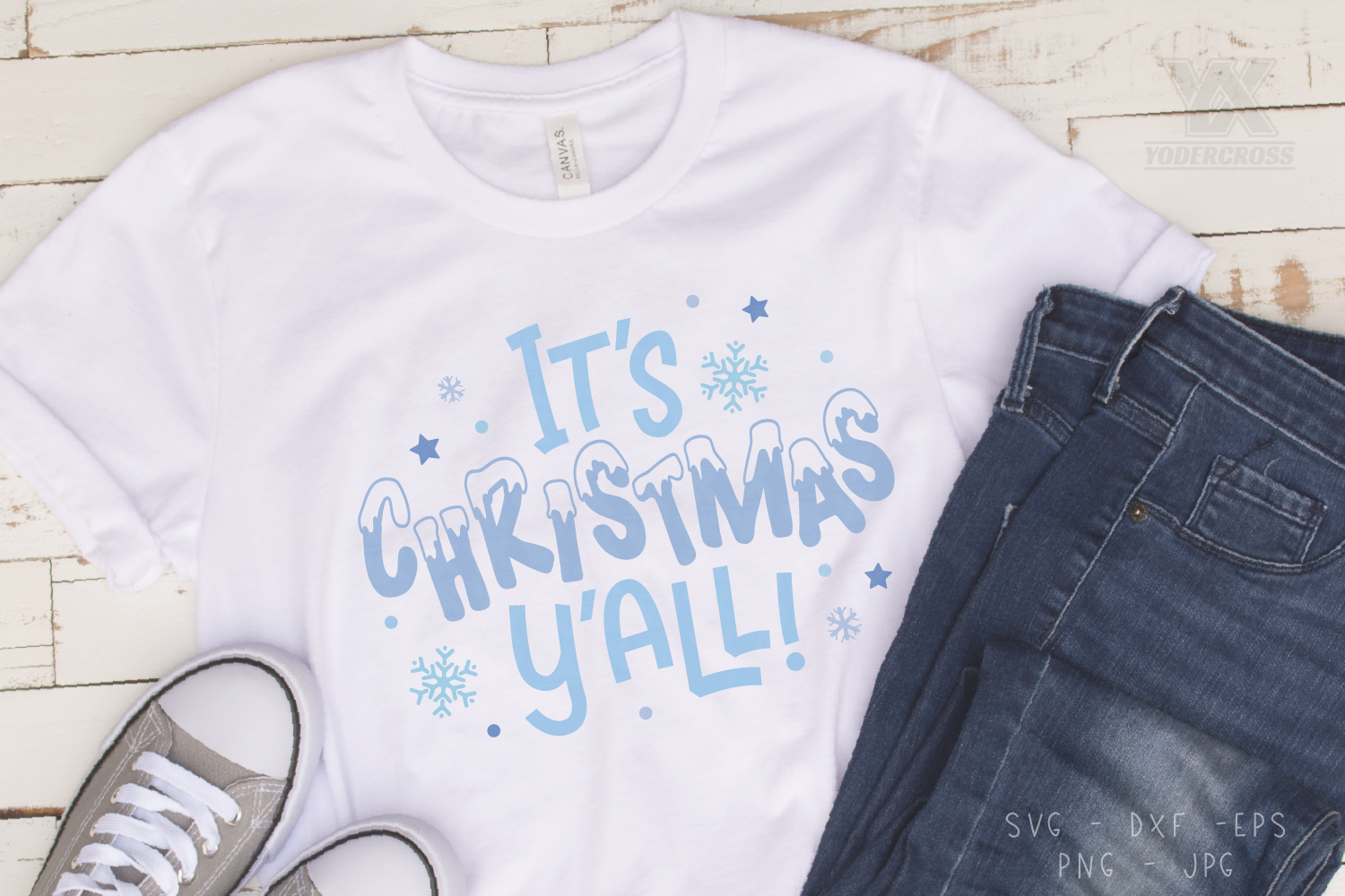 It's Christmas Y'all SVG example image 3