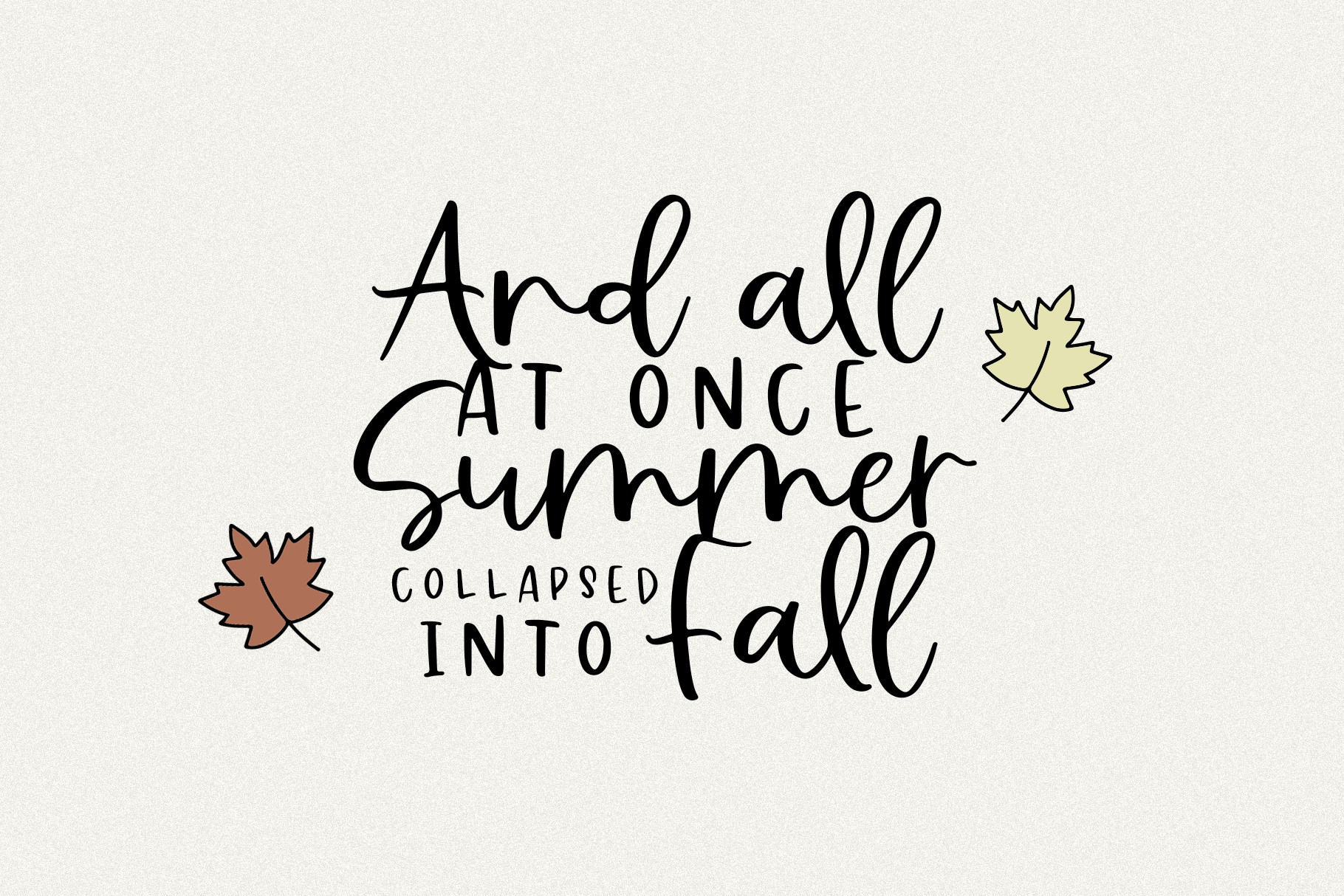 Falling Leaves - A Font Duo with Doodles example image 2