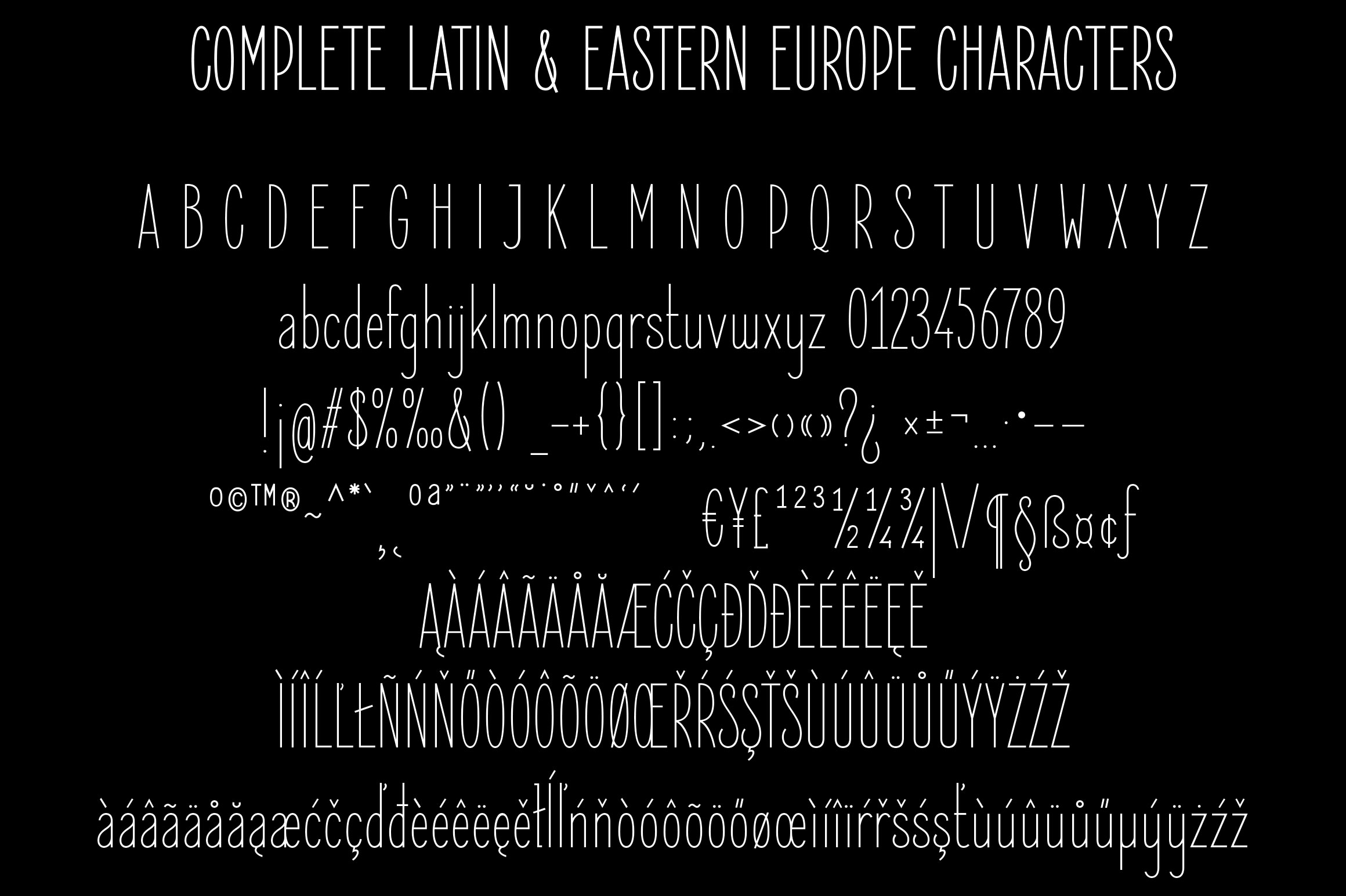 Elegant Sans Font Family example image 5