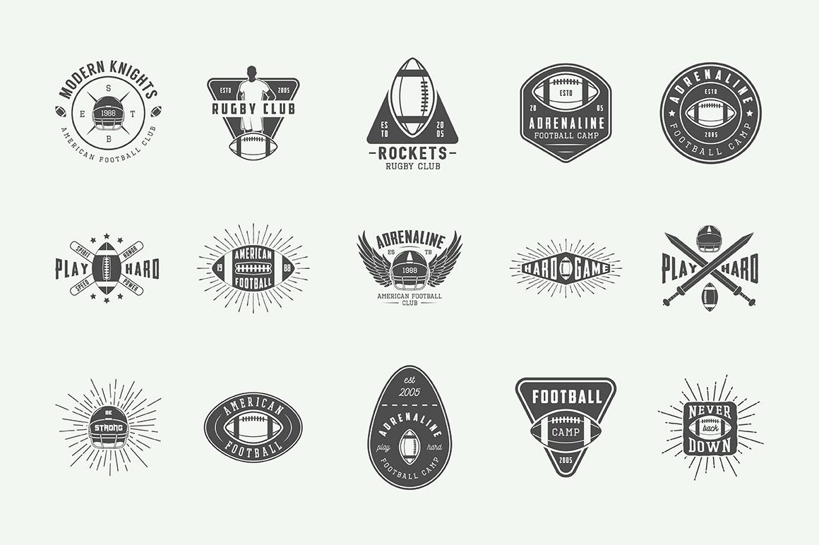 Football and Rugby Emblems Bundle example image 9