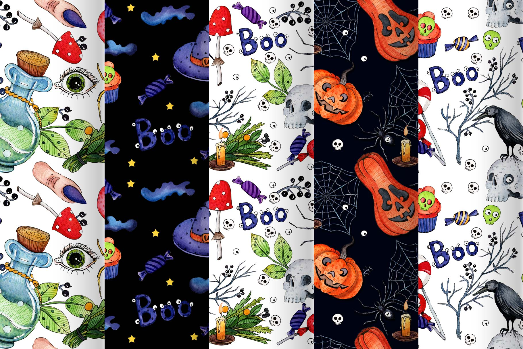 Watercolor set for Halloween example image 4