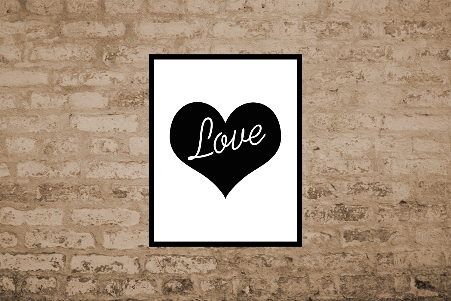 Heart Print, Love Quote Print,Love Print,Heart Poster, OFF50 example image 3