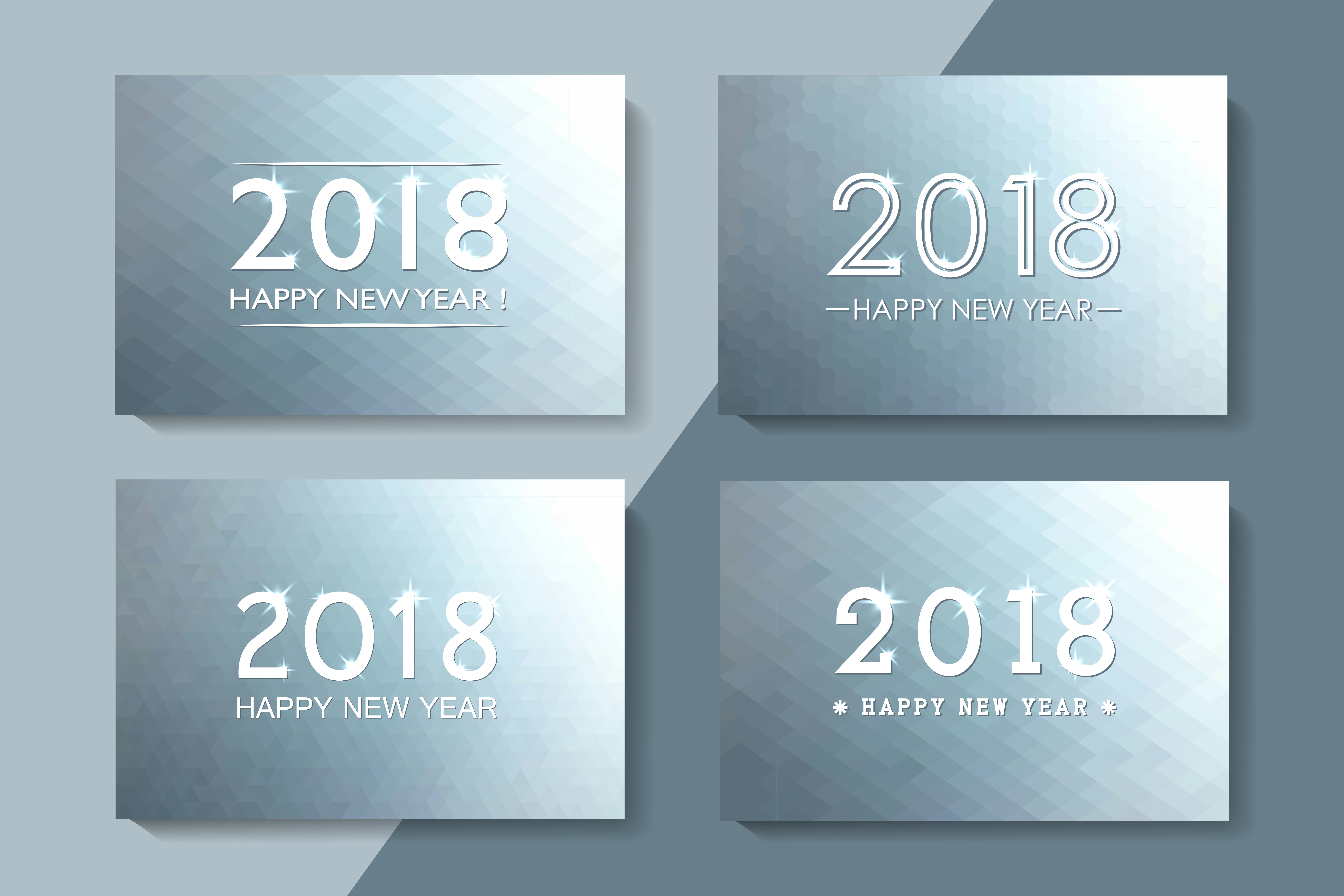 Bundle of New year 2018 cards,banner example image 4