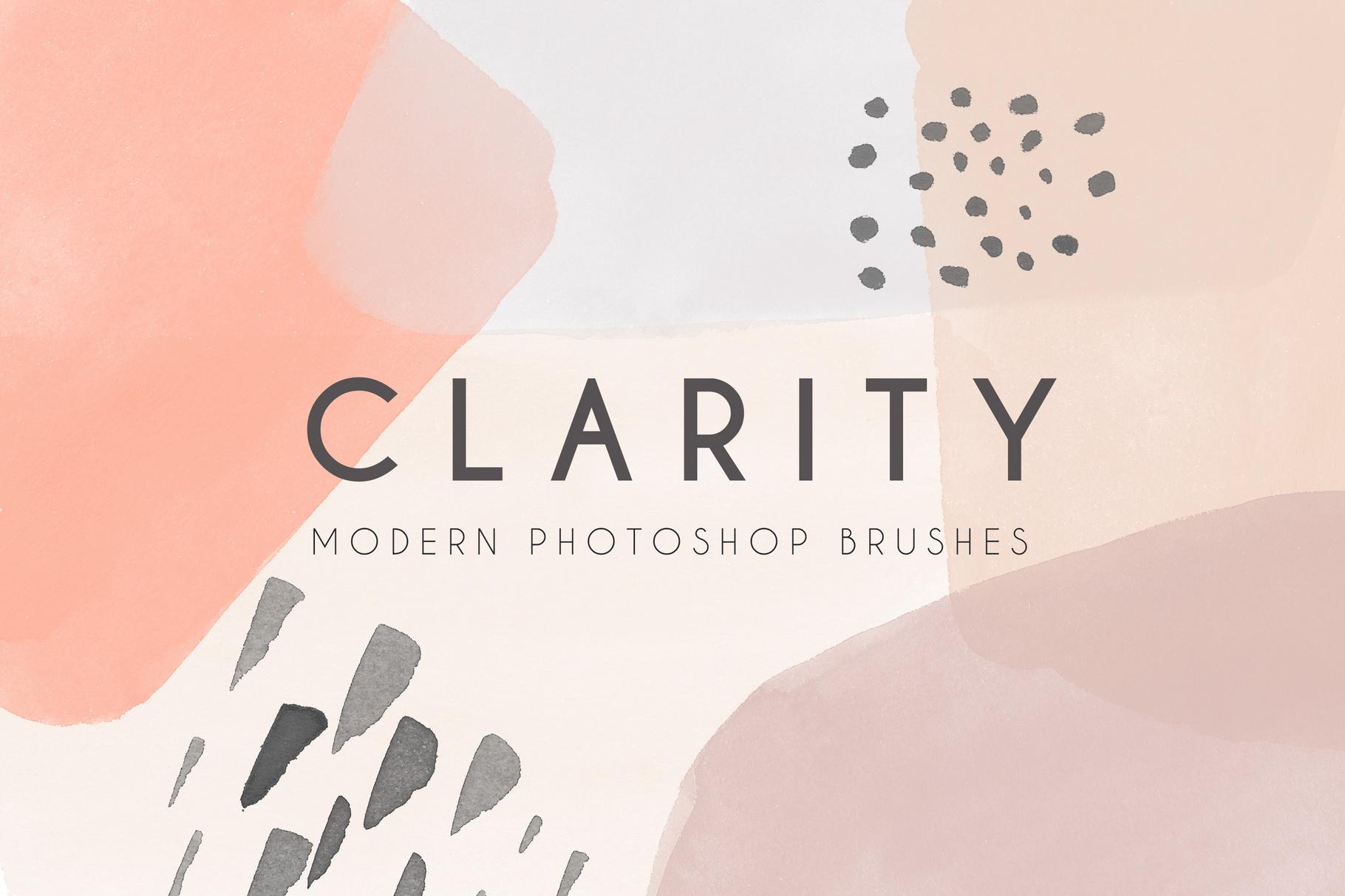 Clarity - Modern Photoshop Brushes example image 1