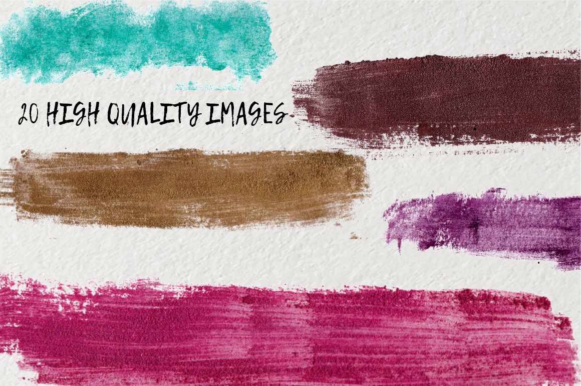Glamour Watercolor brush strokes example image 2