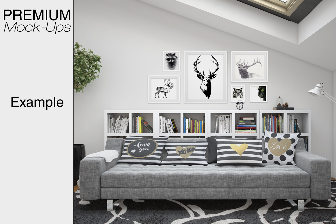 Pillows & Frames Set example image 5