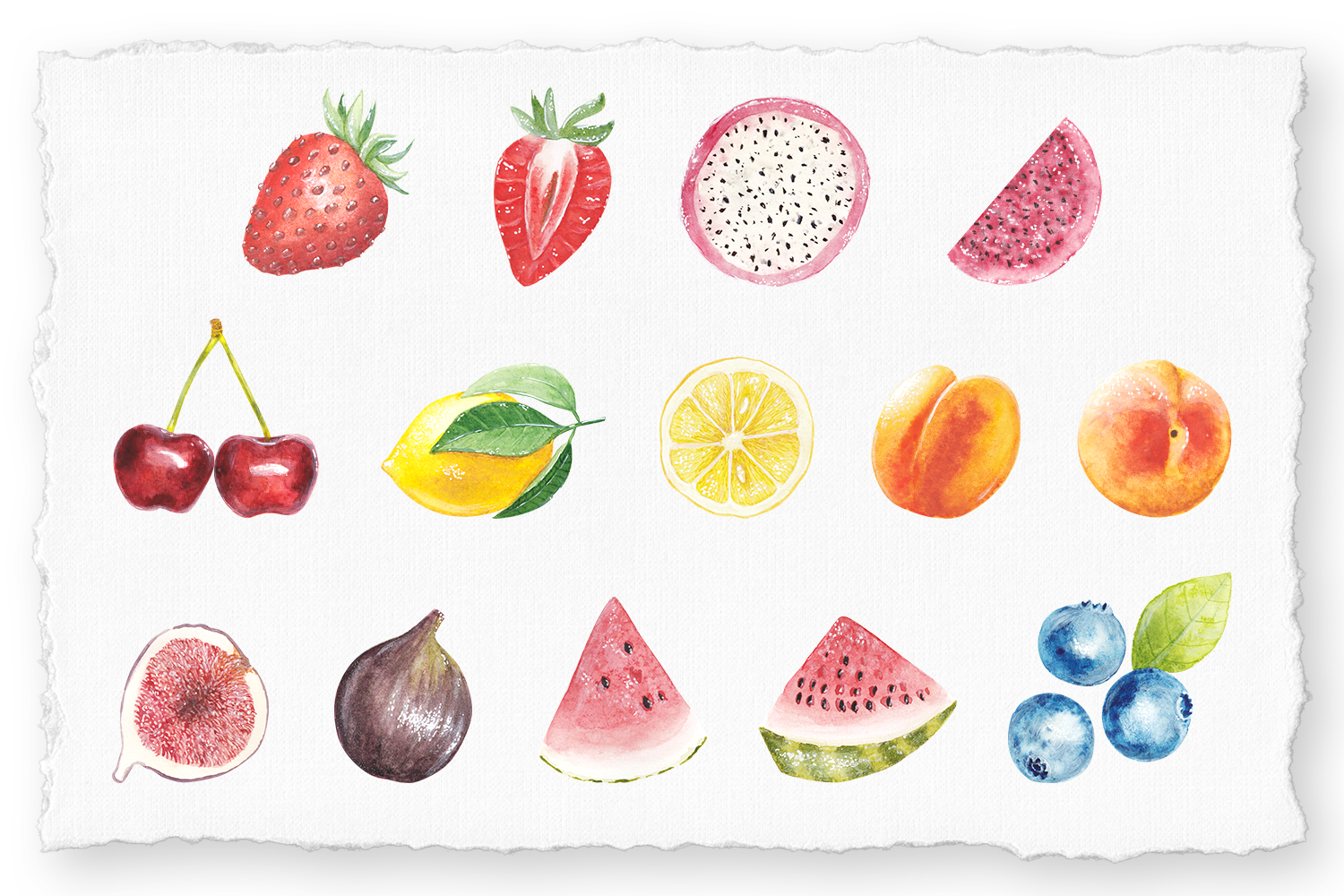 Watercolor handpainted watercolor Collection by shoko design example image 2