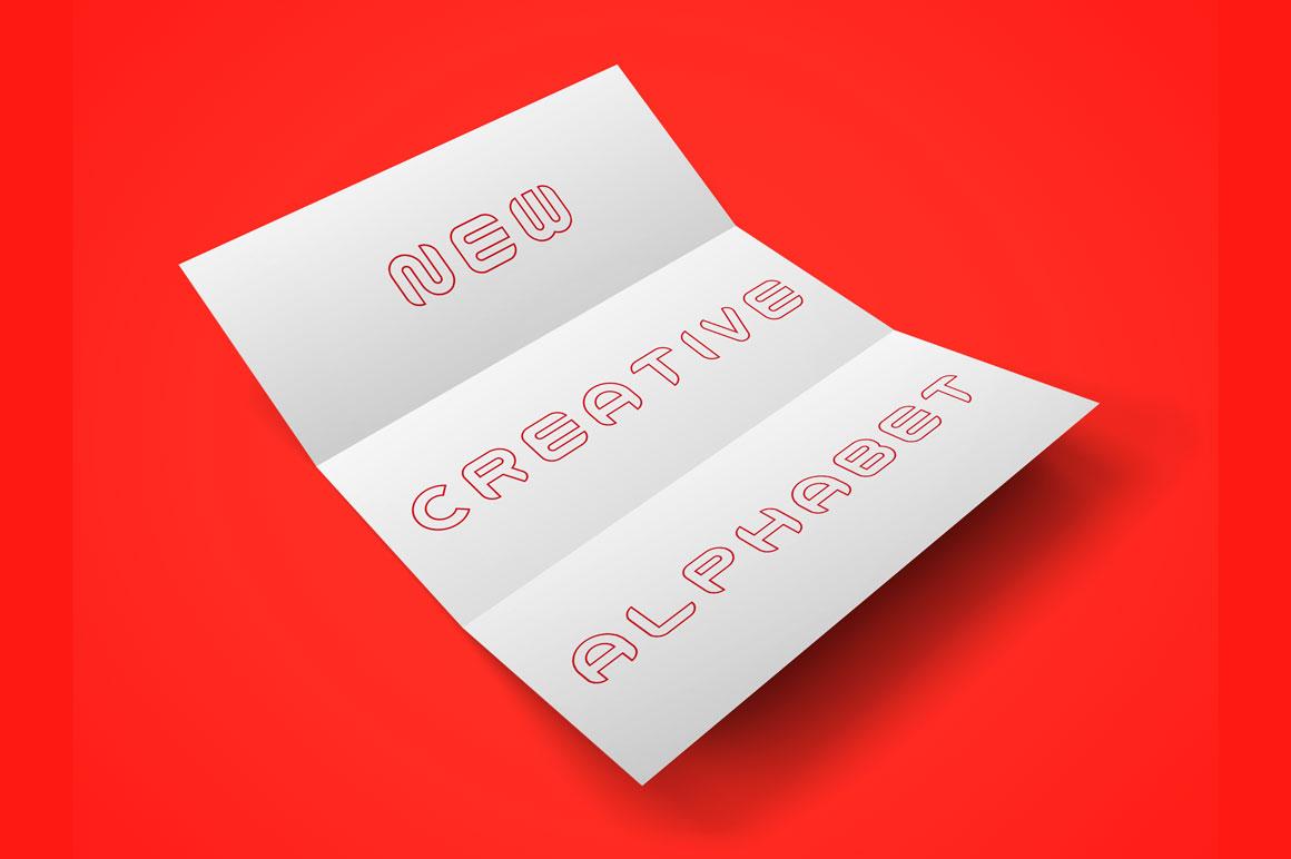 Vector outline decorative alphabet example image 2