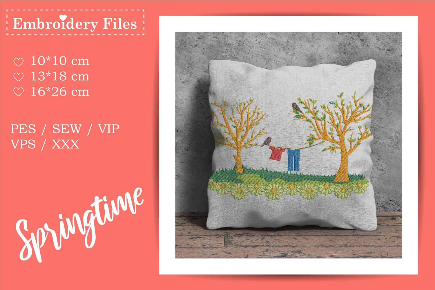 Spring Scene - Embroidery File example image 2