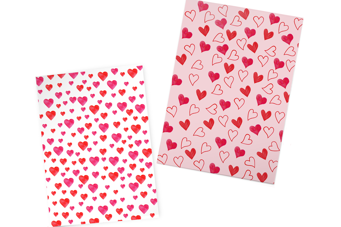 Valentine's Day set of watercolor example image 8