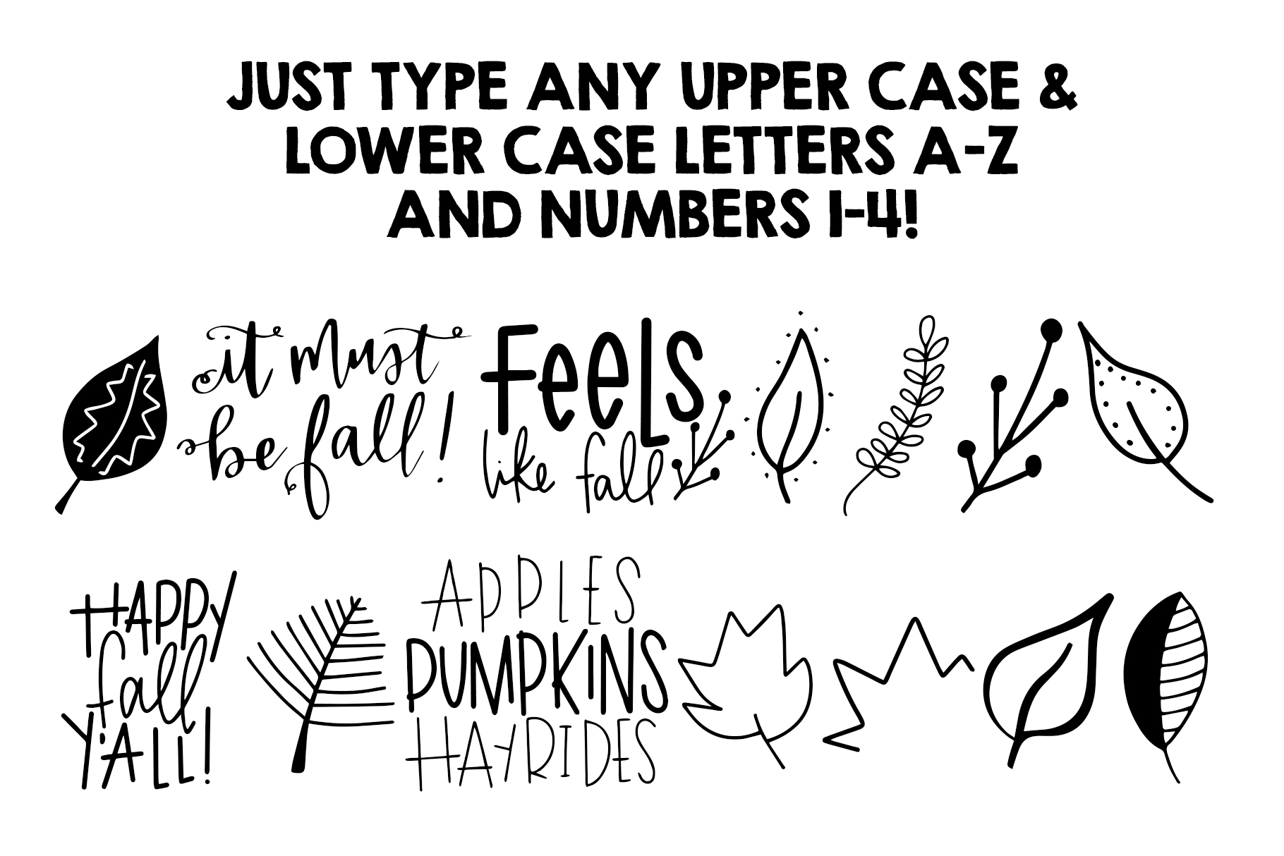 Fall Phrases Symbols Font example image 2