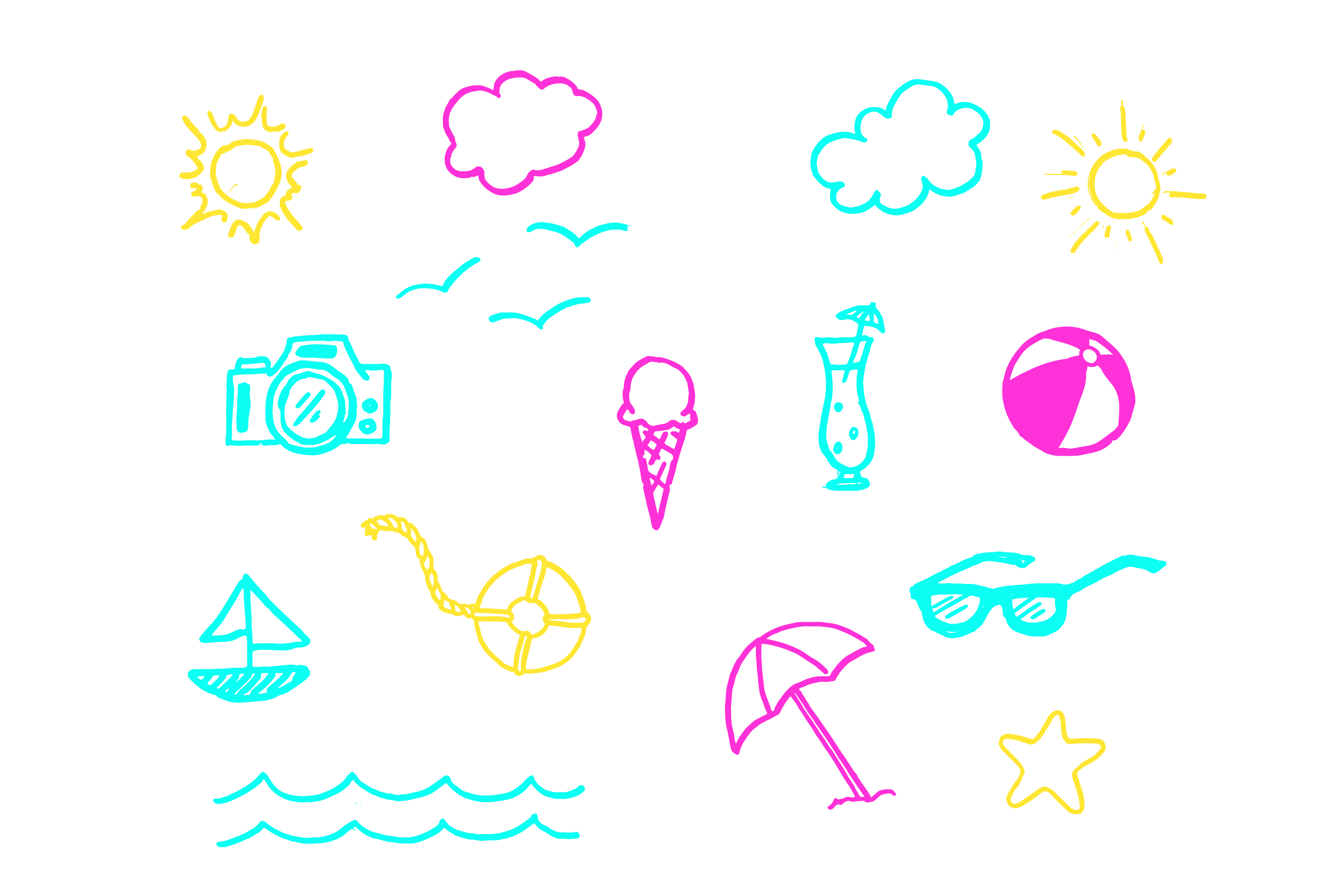 Summer Fun Lettering Pack example image 3
